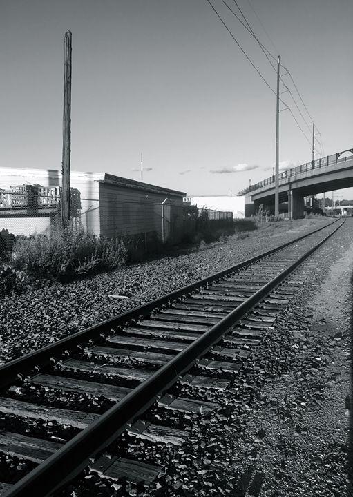 Tracks at Sunset - Raw