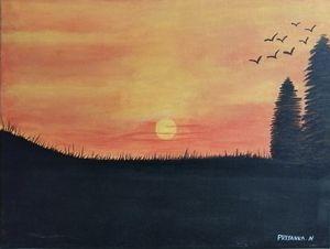 Sun rise painting