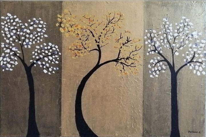 Texture applied on tree - Priyanka sitapara