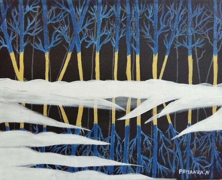 Day & night snow fall - Priyanka sitapara