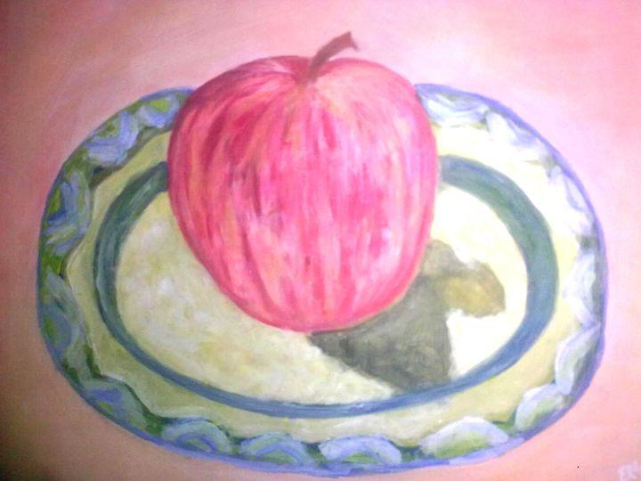 RED APPLE - Prakash 1 fine art / painting gallery