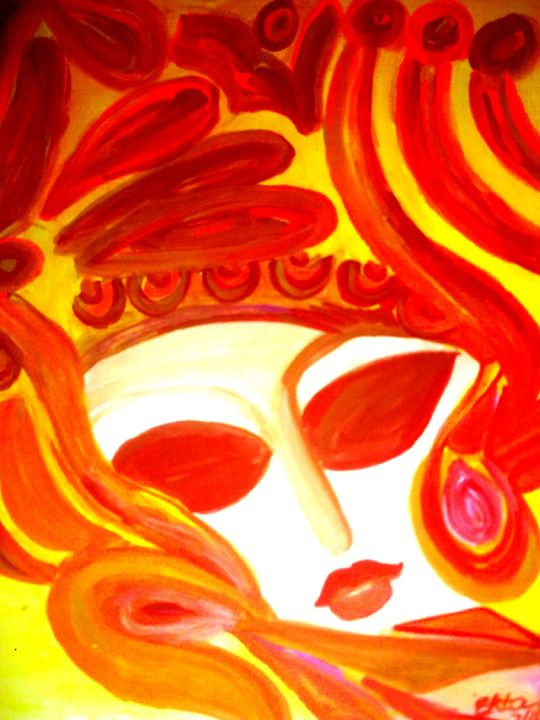 Perfection in orange - Prakash 1 fine art / painting gallery