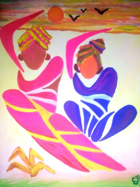 FOLK DANCE - Prakash 1 fine art / painting gallery