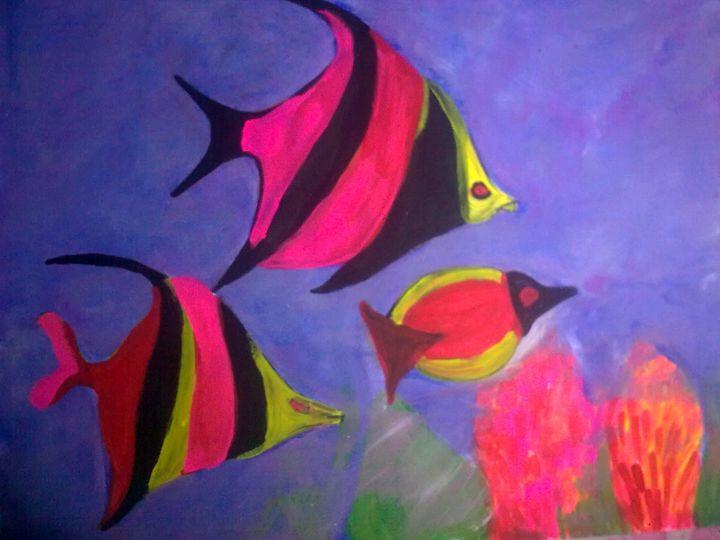 FISH IN OCEAN - Prakash 1 fine art / painting gallery