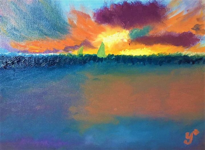 Sea Sunset - Anastasiia Naumenko