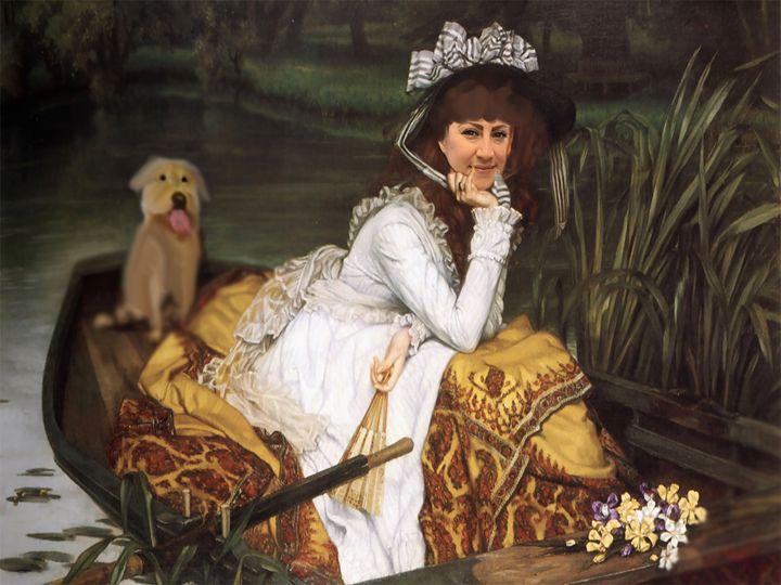girl and her dog - John Guy