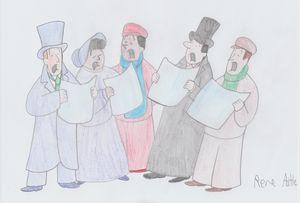 Dickensian Carollers - Rene Astle