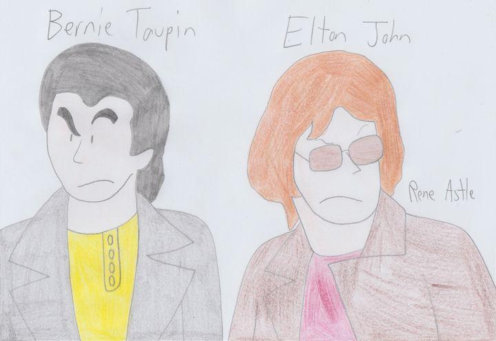 Bernie Taupin and Elton John - Rene Astle