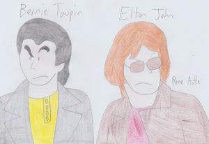 Bernie Taupin and Elton John