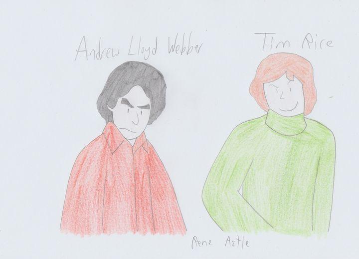 Andrew Lloyd Webber and Tim Rice - Rene Astle