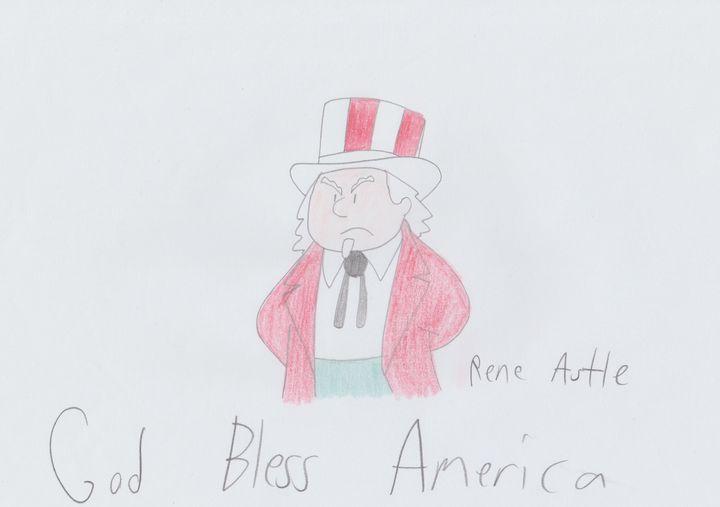 Uncle Sam - Rene Astle - Drawings & Illustration, People