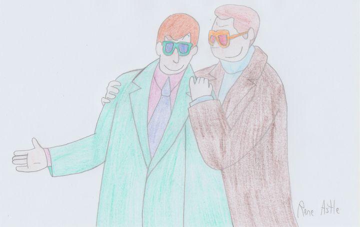 Elton John and Taron Egerton - Rene Astle