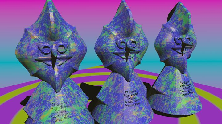 Three wise wizards - 3D designs