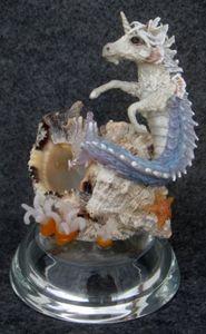 OOAK Hippocampus (sea unicorn) - MJ Albert Sculpts