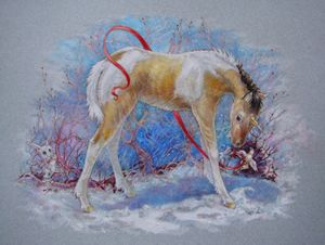 Unicorn Painted Winter Filly