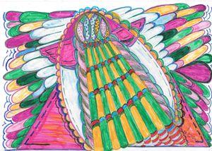 doodled angel