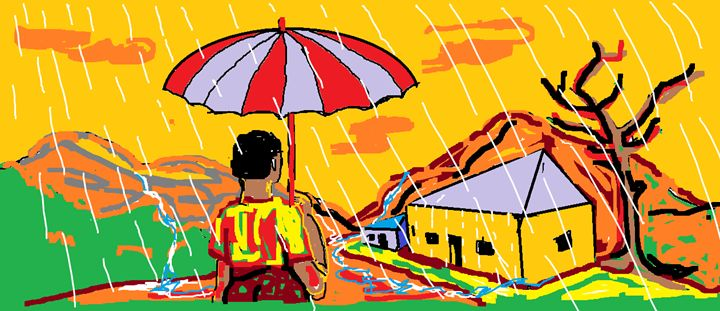 The umbrella - Pek amos art