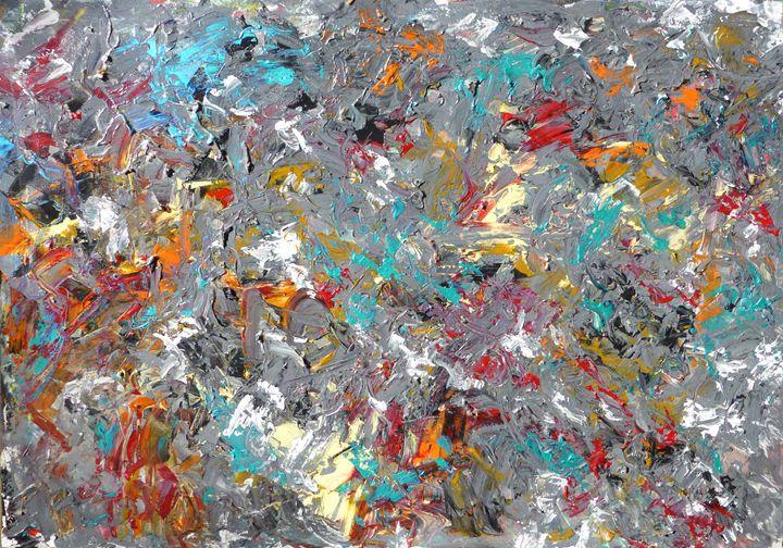 Grey Tone Abstract - Allison Lampron