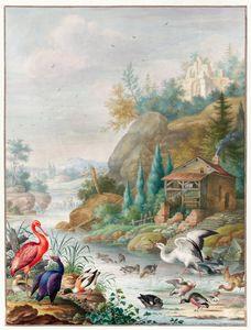 Oiseaux près d'un ruisseau de montag