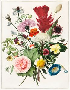 Bouquet de fleurs par un artiste ano