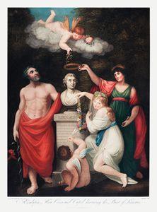 Flore, Esculape, Cérès, avec Cupidon