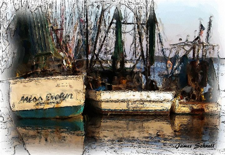 Shrimping Boats - James Schnell