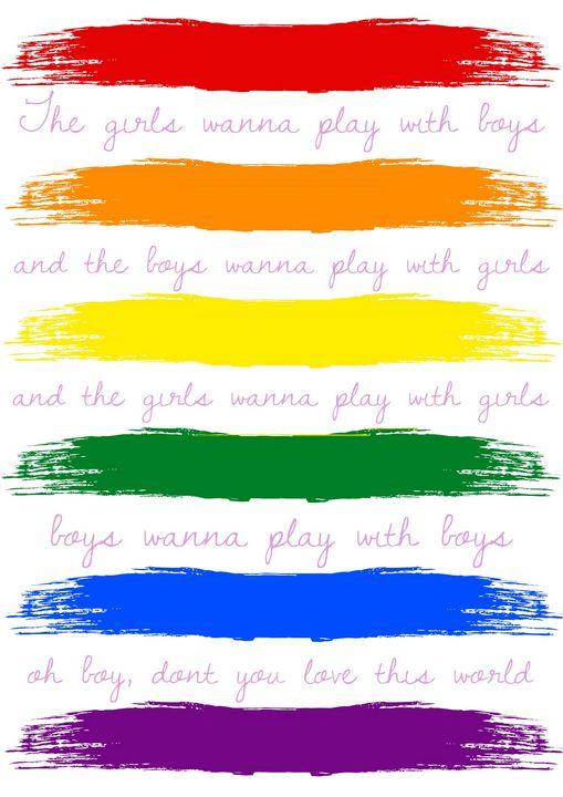 LGBTQ+ 'Boys&Girls' rainbow print - batnat