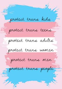 LGBTQ+ Transgender rights print