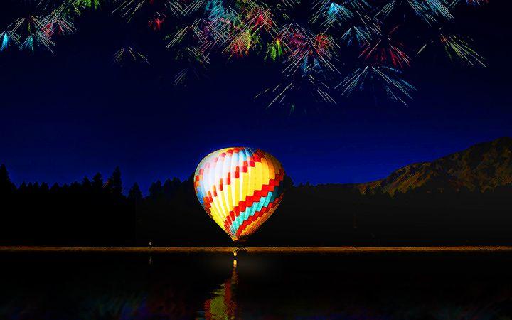 Night Ballooning - LooseGoose Art