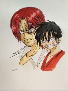 Luffy and Shanks - Haoshoku Haki