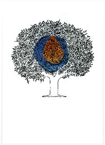 Tree Forest Screen Print Poster
