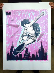 Skaten Angel Screen Print Poster - POP MACHINE