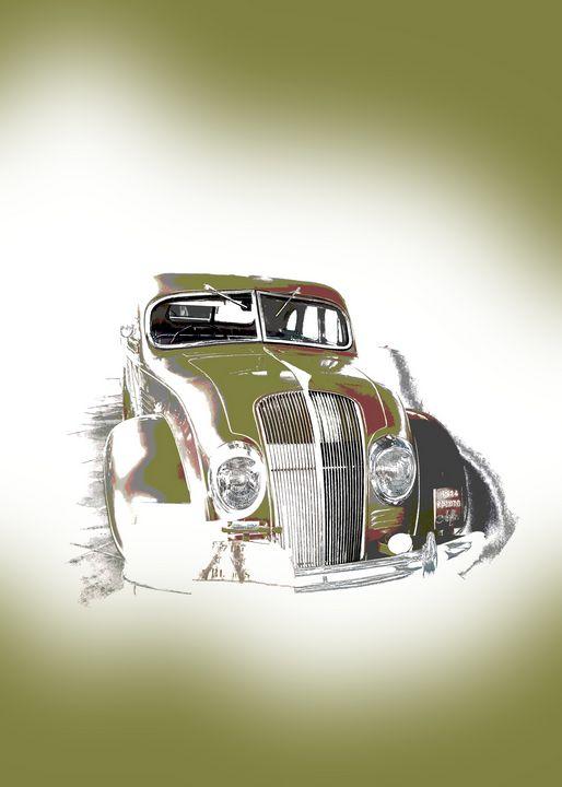 Vintage Gold Car Portrait - Thanatus