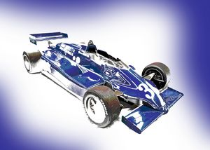 Classic Blue Formula One Car - Thanatus