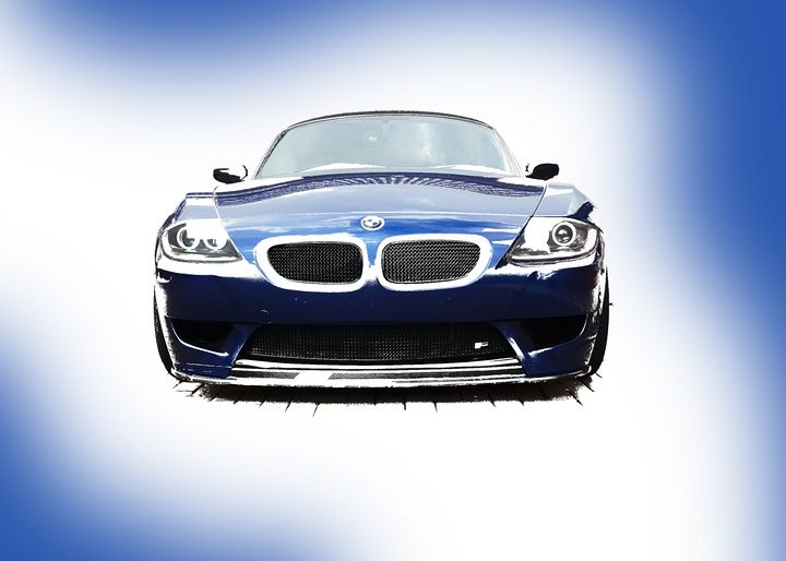 Blue BMW Z4 E85 Front Landscape - Thanatus