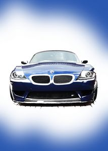 Blue BMW Z4 E85 Front Portrait