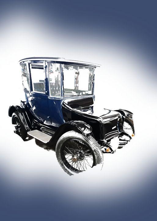 Vintage Blue Carriage Car - Thanatus