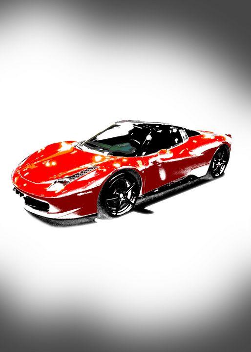 Red Ferrari Portrait - Thanatus