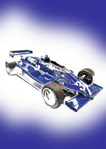 Vintage F1 Racing Car Portrait - Thanatus