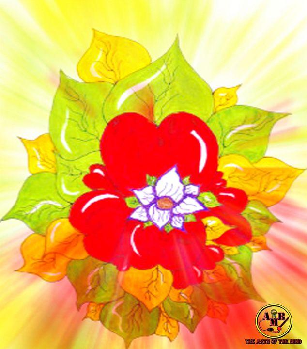 Heart Flower #2 - AMB Designs