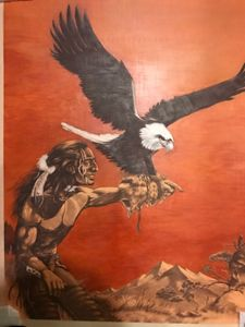 Man with Eagle - Christo Art