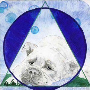 Geometric Bulldog Art