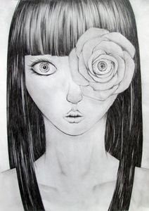 Portrait of a Woman with a Rose - Jack Sides