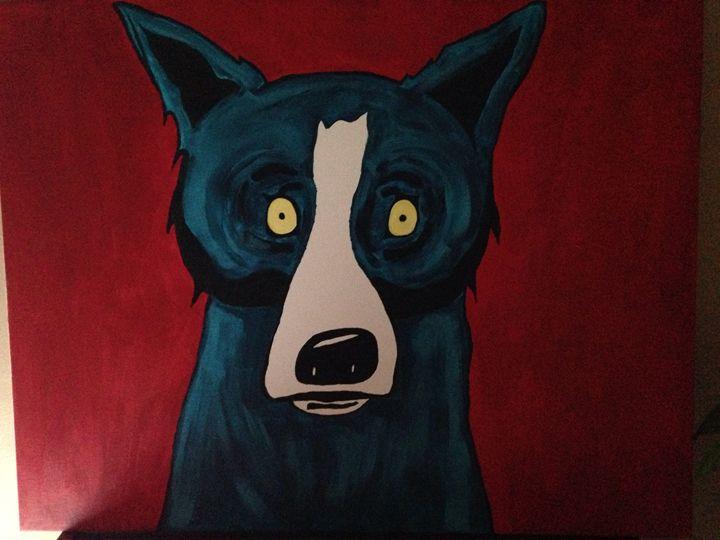 Blue dog - Tiffany Tress