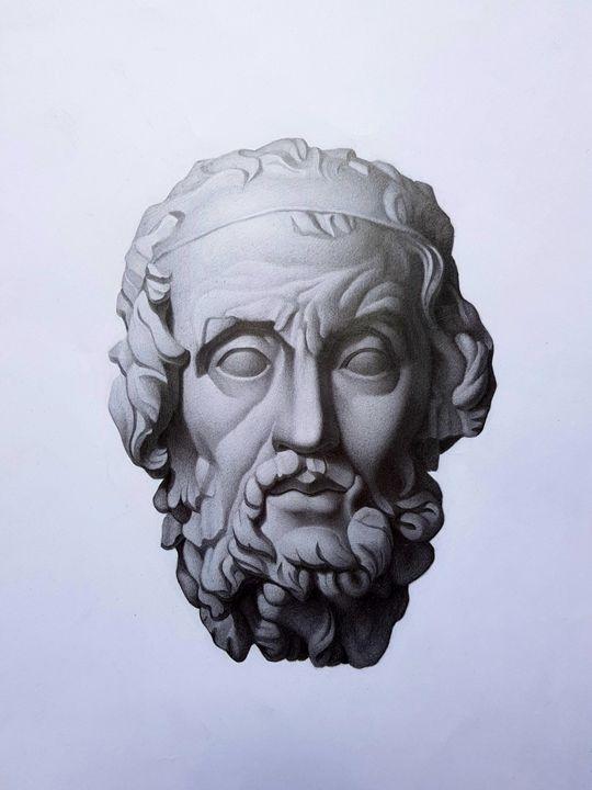 Homere, graphite pencils. - Pencil on paper