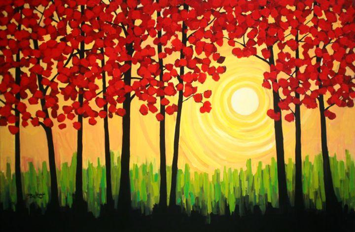 Autumn Tree Sunrise - Patty Baker