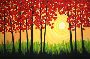 Autumn Tree Sunrise - Patty Baker