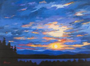 Blue Sky Over Catskill Mountains - Patty Baker
