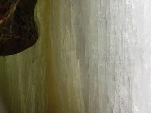 wall of frozen water