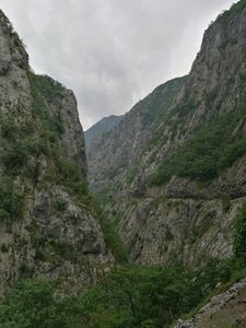 a gorge in the mountains.